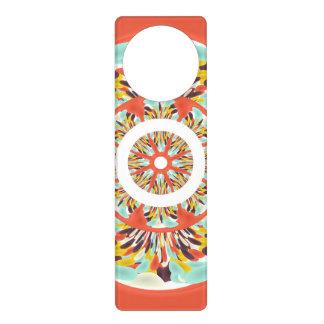Colorful mandala door knob hangers