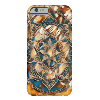 Colorful Mandala Fantasy Acrylic Art Barely There iPhone 6 Case