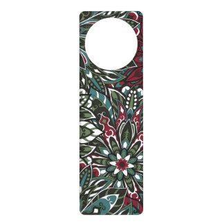 Colorful mandala pattern door hanger
