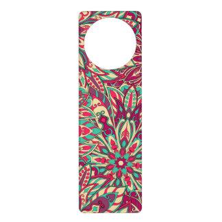 Colorful mandala pattern door hangers