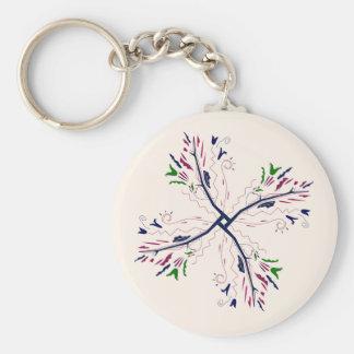 Colorful mandala vanilla key ring