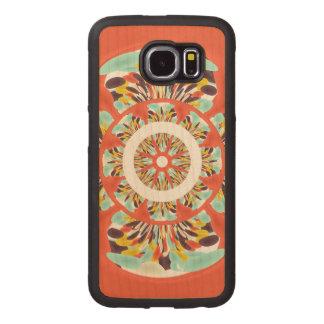 Colorful mandala wood phone case