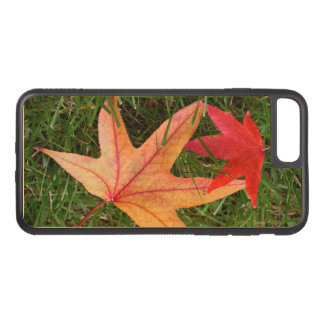 Colorful Maple Leaf Carved iPhone 7 Plus Case