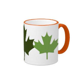 colorful maple leaf - mugs