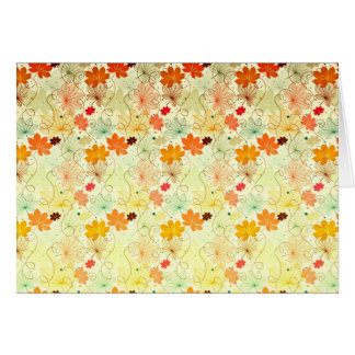Colorful Maple Leaf Pattern Greeting Card