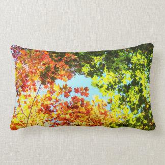 Colorful Maple Leaves Lumbar Cushion