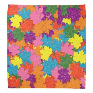 Colorful maple leaves pattern bandana
