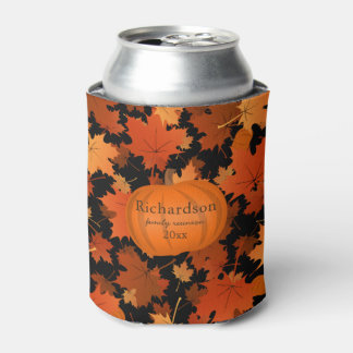 Colorful maple leaves pumpkin fall family reunion can cooler