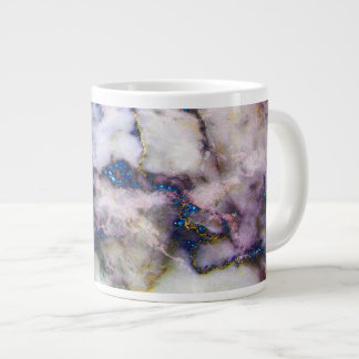 Colorful Marble Stone And Glitter Large Coffee Mug