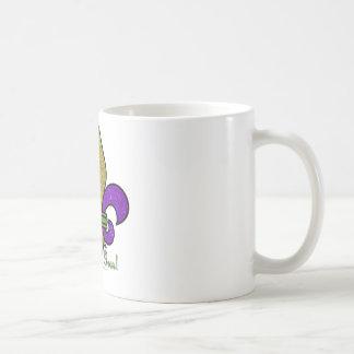 Colorful Mardi Gras Fleur De Lis Coffee Mugs