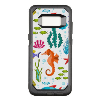 Colorful Marine Animals Cute Cartoon Illustration OtterBox Commuter Samsung Galaxy S8 Case