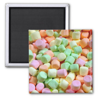 Colorful marshmallows print magnet
