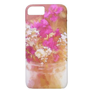 Colorful Mason Jar of Wildflowers Painting iPhone 8/7 Case