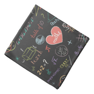 Colorful Mathematics Formula Bandana