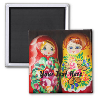 Colorful Matryoshka Dolls Fridge Magnets