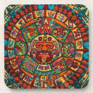 Colorful Mayan Calendar Coaster