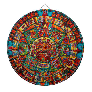 Colorful Mayan Calendar Dartboard