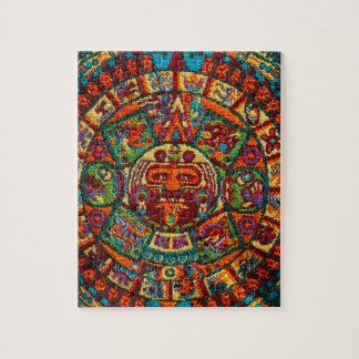 Colorful Mayan Calendar Jigsaw Puzzle