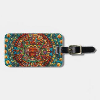 Colorful Mayan Calendar Luggage Tag