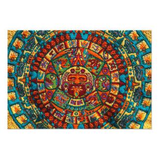 Colorful Mayan Calendar Photo
