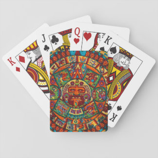 Colorful Mayan Calendar Playing Cards