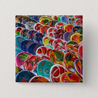 Colorful Mayan Mexican Bowls 15 Cm Square Badge