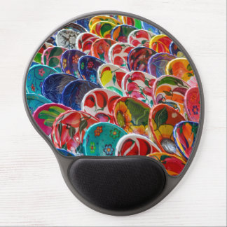 Colorful Mayan Mexican Bowls Gel Mouse Pad