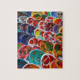 Colorful Mayan Mexican Bowls Jigsaw Puzzle