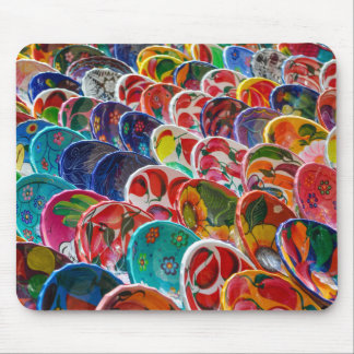 Colorful Mayan Mexican Bowls Mouse Pad