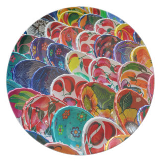 Colorful Mayan Mexican Bowls Plate