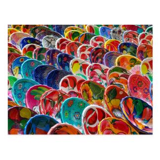 Colorful Mayan Mexican Bowls Postcard