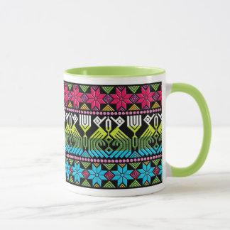 Colorful mayan pattern mug