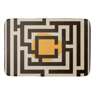 Colorful Maze Pattern on Custom Color Bath Mat
