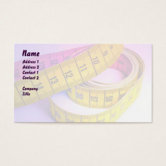 Colorful measuring tape business card