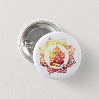 Colorful meditation 3 cm round badge