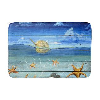 Colorful Medium Starfish Sky Bath Mat by Yotigo