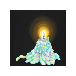 Colorful Melting Candle art canvas print wall art