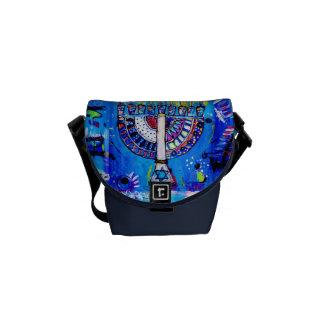 Colorful Menorah Commuter Bag