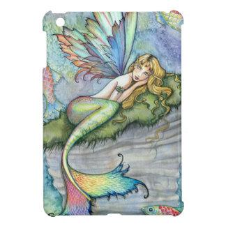 Colorful Mermaid and Carp Fish Fantasy Art iPad Mini Cover
