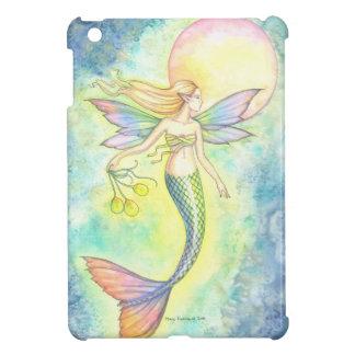Colorful Mermaid Watercolor Illustration iPad Mini Case