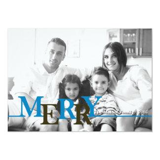 Colorful Merry Christmas Customized Photo Card 13 Cm X 18 Cm Invitation Card