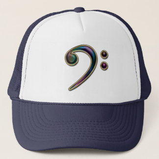 Colorful Metallic Bass Clef Music Hat