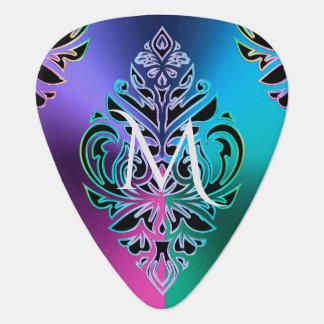 Colorful Metallic Damask Tribal Modern Guitar Pick