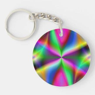 Colorful Metallic Fractal Lustre Key Ring