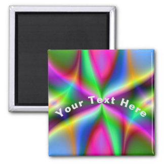 Colorful Metallic Fractal Lustre Magnet