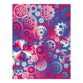 Colorful metallic gears flyers
