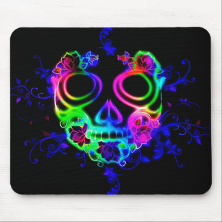 Colorful Mexican Halloween Mask Mousepad