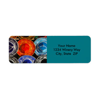 Colorful Mexican sombreros Return Address Label