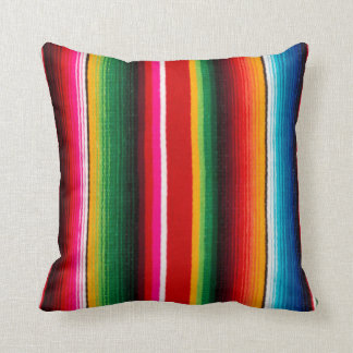 colorful mexican style throw cushions