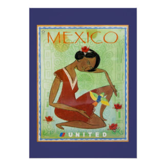Colorful Mexican Travel Poster